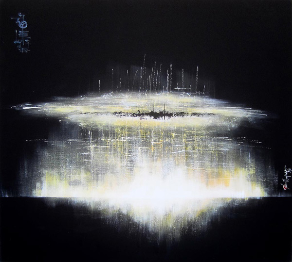 Francois Haguier - Tableaux skyline  Ascension, 36 x 48, 2014