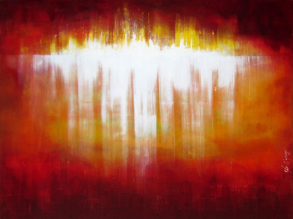 Francois Haguier - Tableaux skyline Red light, 36 x 48, 2014