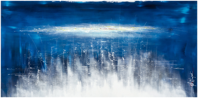 Francois Haguier - Tableaux skyline City Blue, 2015