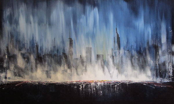 Francois Haguier - Tableaux skyline New York Boreal painting