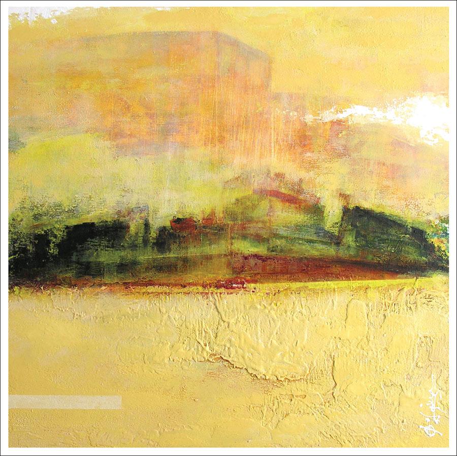Peinture Paysage Abstrait Haguier Toile Abstraction Contemporaine