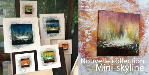 collection peinture mini skyline