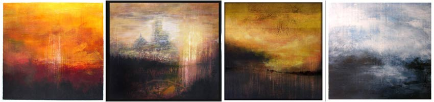 new paintings abstract  landscape